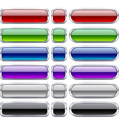 Bar blank buttons vector image