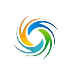 circle spin colorful logo vector image