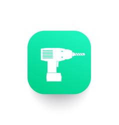 electric screwdriver icon vector image vector image