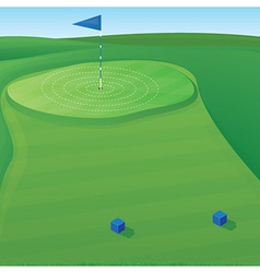 Golf Target vector image
