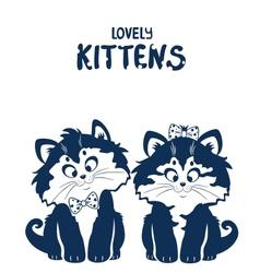 lovely kittens vector image vector image