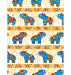 seamless pattern with elephants vector image vector image