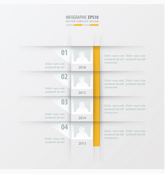 timeline report design template yellow color vector image vector image
