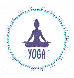Yoga lotus vector