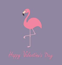Flamingo standing on one leg Exotic tropical bird vector image vector image