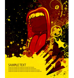 Grunge poster vector