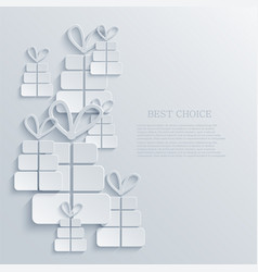 modern gift light icon background vector image vector image