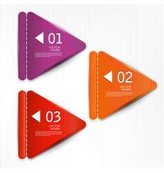 Set of bookmarks stickers labels tags template for vector image