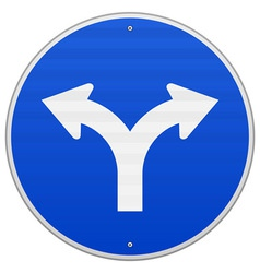 Blue Sign with two Arrows vector image vector image