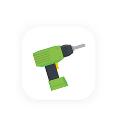 Electric screwdriver icon vector