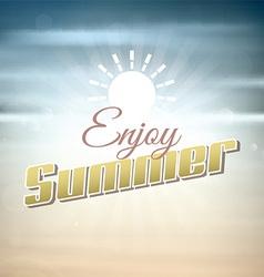 Enjoy summer background vector image vector image