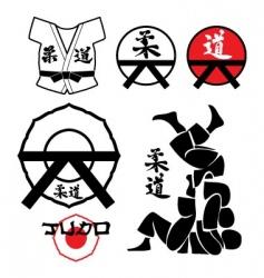 judo design elements vector image