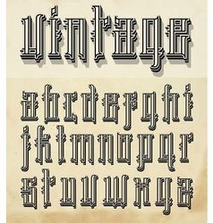 Vintage style font vector image