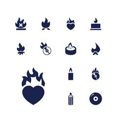 13 burn icons vector image
