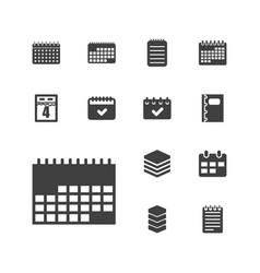 13 organizer icons vector