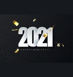 2021 new year luxury on dark vector image