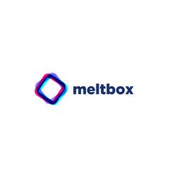 abstract multicolor square logo design vector image