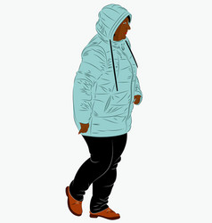 african american female dressed in winter clothes vector image