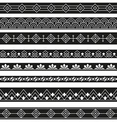 art deco borders style line design variable line vector image