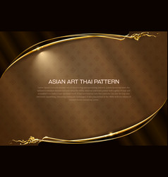 asian pattern background thai art frame border vector image