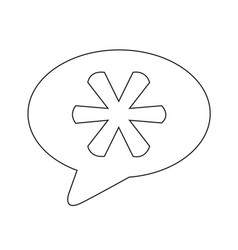 Asterisk footnote sign icon vector