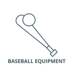 baseball equipment line icon baseball vector image