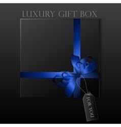 Black gift box vector image