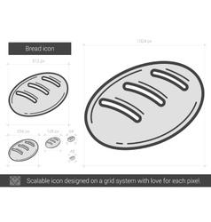 Bread line icon vector image