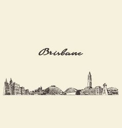 Brisbane a big skyline queensland australia vector