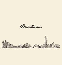 brisbane a big skyline queensland australia vector image