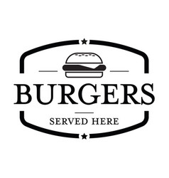 burger vintage stamp vector image