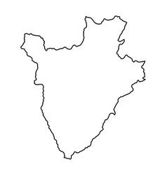burundi map of black contour curves on white vector image
