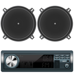 Car audio and speakers vector