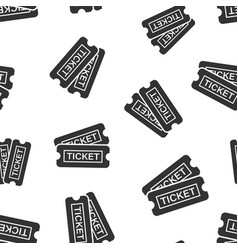 cinema ticket icon seamless pattern background vector image