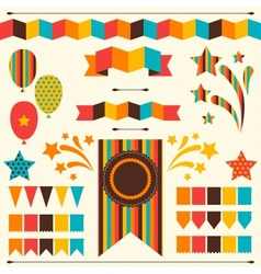 Collection decorative elements for holiday vector