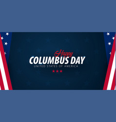 Columbus day sale promotion advertising poster vector