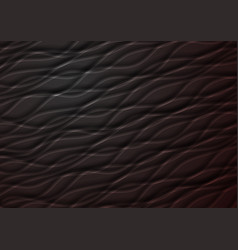 Dark abstract smooth waves modern background vector