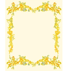 Decorative ornamental page vintage vector image