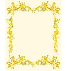 Decorative ornamental page vintage vector