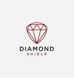 diamond shield logo icon template vector image