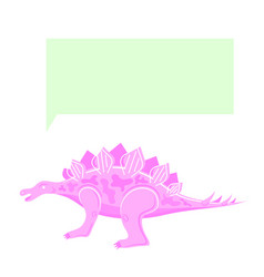 dinosaur thinking speaking pink color isolated vector image