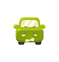 Disappointed Green Car Emoji vector