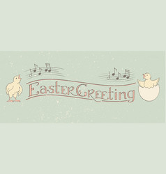 easter greeting calligraphy banner vector image
