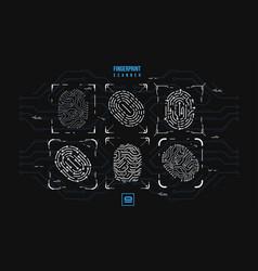 Finger-print scanning identification system vector