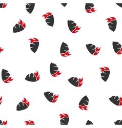 Fire Helmet Flat Seamless Pattern vector image