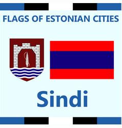 Flag of estonian city sindi vector