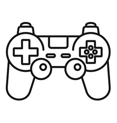 gamepad control icon outline style vector image