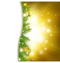 Gold New Year Card vector image