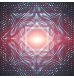 Infinite polygonal or square tunnel vector