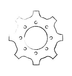 Isolated gear icon vector